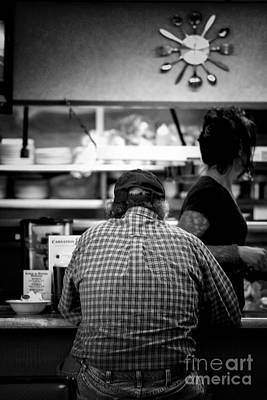 Photograph - Diner Regular by Catherine Fenner