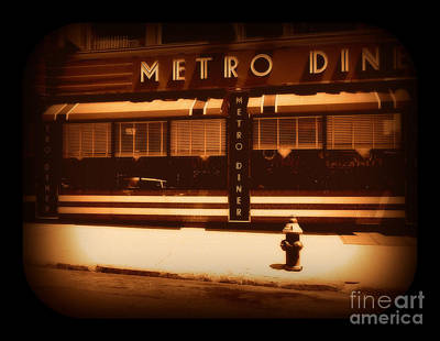 Photograph - Diner - Sepia by Miriam Danar