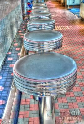 Kathleen Photograph - Diner Stools by Kathleen Struckle