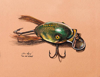 Trout Drawing - Dingbat by Aaron Spong