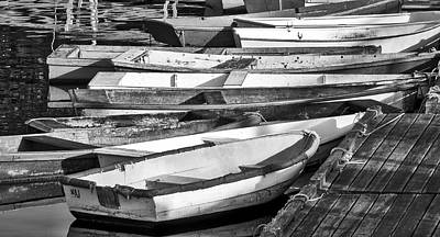 Photograph - Dinghies - Perkins Cove Maine by Steven Ralser
