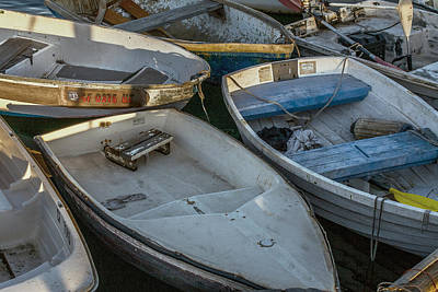 Small Boat Photograph - Dinghies by Peter Tellone