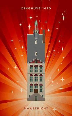 Briex Digital Art - Dinghuys 1470 Maastricht by Nop Briex