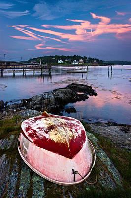 Bailey Island Photograph - Dinghy by Benjamin Williamson