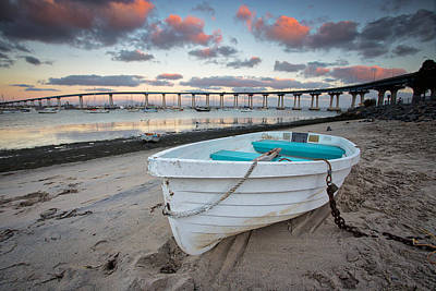 Coronado Bay Photograph - Dinghy I by Peter Tellone