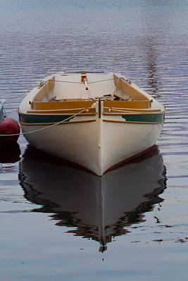 Mystic Photograph - Dinghy Reflection  by Kirkodd Photography Of New England