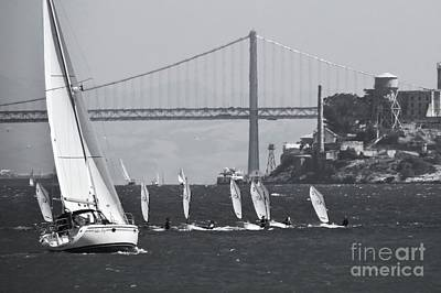 Clouds Royalty Free Images - Dinghy Regatta Royalty-Free Image by Scott Cameron