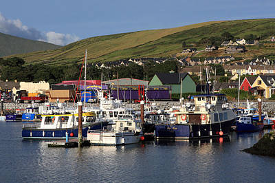 Irish Seascape Photograph - Dingle Harbour County Kerry Ireland by Aidan Moran