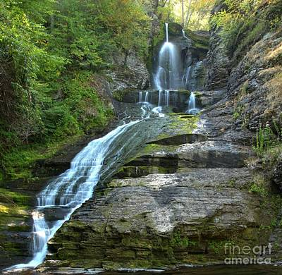 Photograph - Dingmands Falls Cascades by Adam Jewell