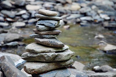 Photograph - Dingmans Creek Cairn by Jennifer Ancker