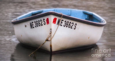 Row Boat Digital Art - Dinghy 1 by Jerry Fornarotto