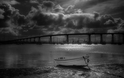 San Diego Bay Photograph - Dinghy by Joseph Smith