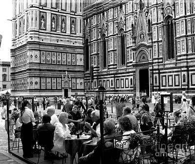 Photograph - Dining At The Duomo by Jacqueline M Lewis