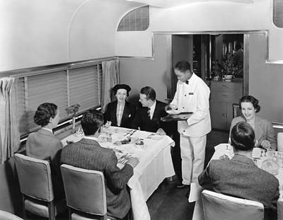 Young Man Photograph - Dining Car On Denver Zephyr by Underwood Archives