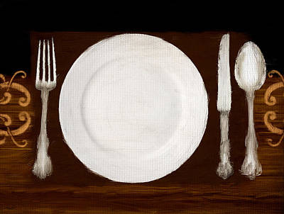 Digital Art - Dining Etiquette by Lourry Legarde