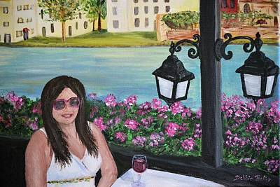 Painting - Dining In Venice by Debbie Baker