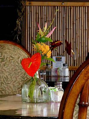 Bamboo Chair Photograph - Dining Local Hawaiian Style by Lori Seaman