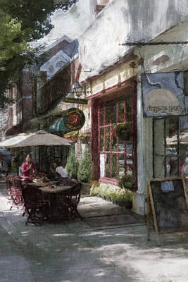 Dining Outside Art Print