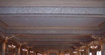 Photograph - Dining Room Ceiling At Davenport by Georgia Hamlin