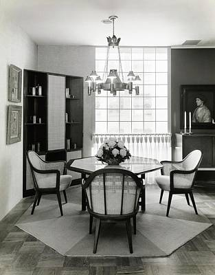 Dine Photograph - Dining Room Designed By John And Earline Brice by Tom Leonard
