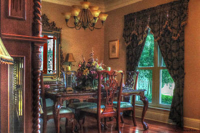 Photograph - Dining Room-hdr by Cathy Jourdan