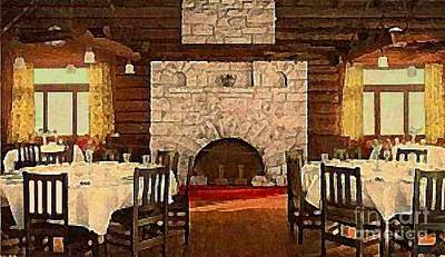 Dining Room In The El Tovar Grand Canyon Lodge Around 1910 Art Print By  Dwight Goss Part 37
