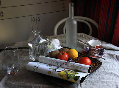 Photograph - Dining Room Still Life With A Cup Of Coffee. by Danuta Antas Wozniewska