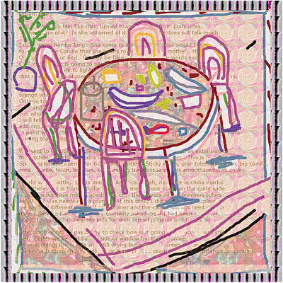 Champion Mixed Media - Dining Space Ideas Kids Love To Draw Anywhere  Here Is Our Proposed Dining Table On School Magzine by Navin Joshi