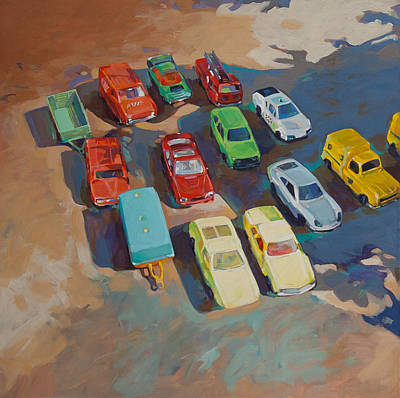 Sportscar Painting - Dinky Toys by Anke Classen