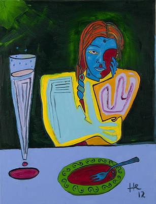 Dinner 40x30 Art Print