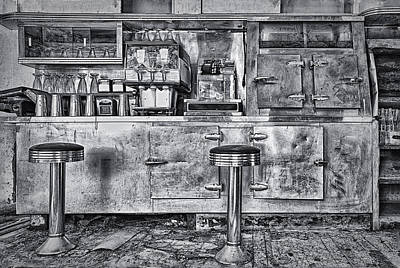 Stools And Counter Photograph - Dinner At The Diner by Priscilla Burgers