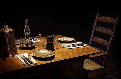 Hurricane Lamps Photograph - Dinner Awaits by Priscilla Burgers