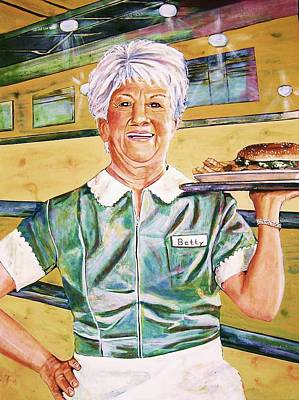 Dinner Betty Art Print by Linda Vaughon
