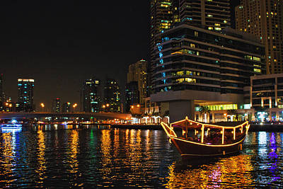Uncle Sam Posters Rights Managed Images - Dinner Cruise Dubai Royalty-Free Image by John Swartz