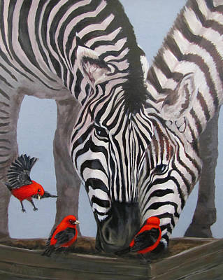 Painting - Dinner Guests by Karen Ilari