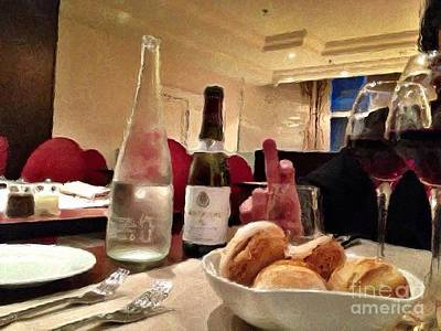 Table Wine Mixed Media - Dinner Is Served by Lauri Serene