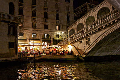 Photograph - Dinner On The Grand Canal by Walt  Baker