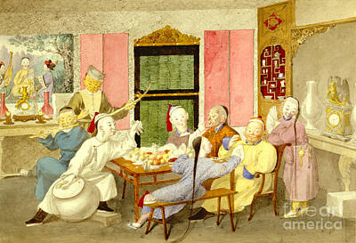 Dinner Party 1860 Art Print by Padre Art