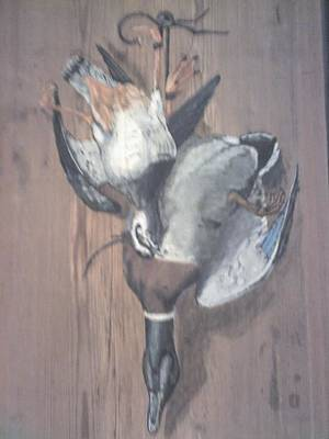 Lapwing Painting - Dinner by Stephen Thomson