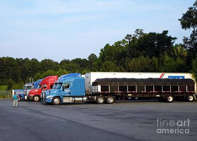 Photograph - Dinner Time For Truckers by Renee Trenholm