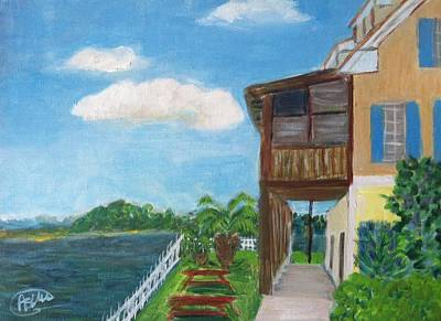 Swansboro Painting - Dinning By The Sea by Asuncion Purnell