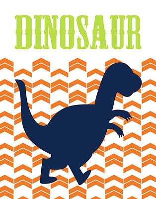 Nursery Painting - Dino 3 by Tamara Robinson