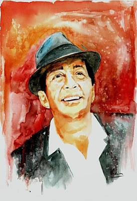 Rat Pack Painting - Dino The King Of Cool  Dean Martin by Marcelo Neira