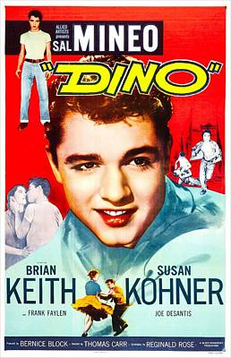 1957 Movies Photograph - Dino, Us Poster, Sal Mineo, 1957 by Everett