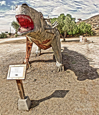 Dinosaur Atack Art Print by Gregory Dyer