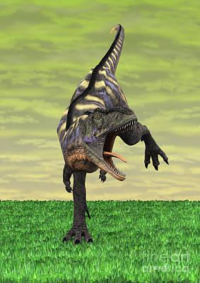 Digital Art - Dinosaur Aucasaurus by Design Windmill