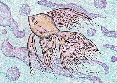 Under The Ocean Drawing - Dinosaur Begins by Tawny Halterman