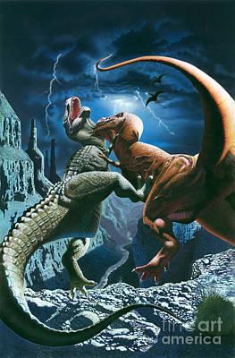 Aggressiveness Photograph - Dinosaur Canyon by MGL Studio - Chris Hiett