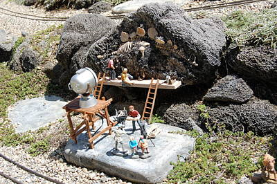 Dinosaur Excavation On Garden Railroad Original
