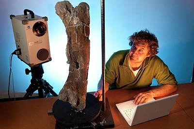 Scanner Photograph - Dinosaur Fossil 3d Scanning by Philippe Psaila